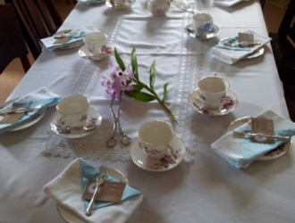 Table set up with Fine China