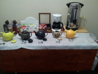 Morning tea set up