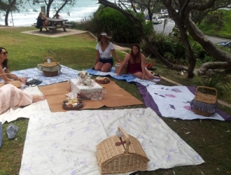 Hens Party set up in Byron Bay