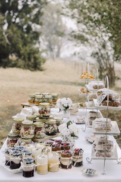 Buffet Picnic Wedding Reception
